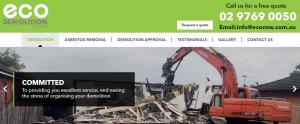 eco demolition in sydney