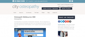 city osteopathy in melbourne