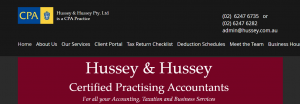 hussey and hussey cpa firm in canberra