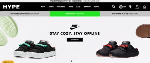hype dc shoe store in sydney