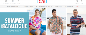 lowes mens clothing in sydney
