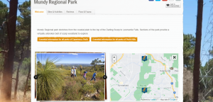 mundy regional park in perth