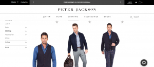 peter jackson mens clothing in newcastle