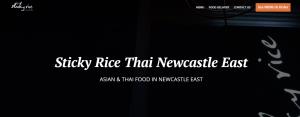 sticky rice thai restaurant in newcastle