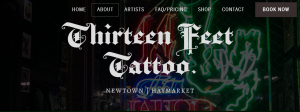 thirteen feet tattoo studio in sydney