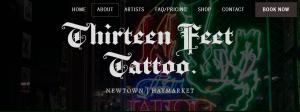thirteen feet tattoo studio in sydney