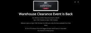 warehouse clearance sale in brisbane