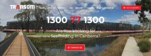 transom scaffolding in canberra