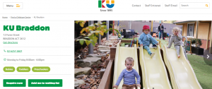 KU braddon child care services in canberra