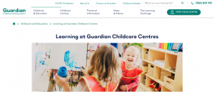 guardian childcare and education in canberra