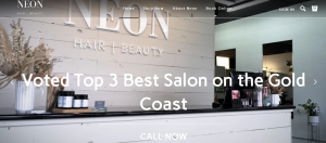 neon beauty salon in gold coast