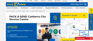 pack and send canberra