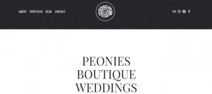 peonies wedding planners in newcastle
