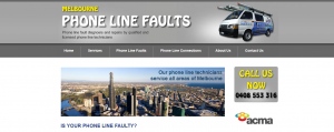 phone line faults in melbourne