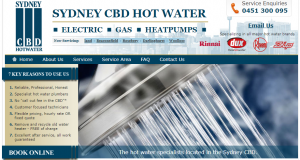 sydney cbd hot water services
