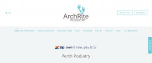Liz Rich, archrite podiatry in perth