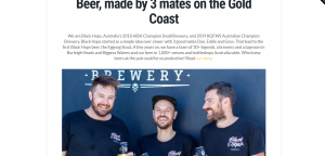 black hops brewery in gold coast