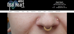 opal heart body piercings in perth