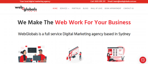 web globals in sydney