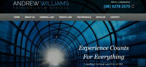 andrew williams criminal law offices in perth