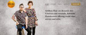artillery hair salon in adelaide