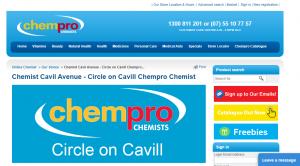 Circle on Cavill Chempro Chemist in gold coast
