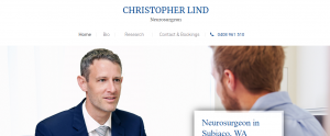 Dr Christopher Lind, neurosurgeon in perth