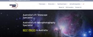 astronomy alive telescopes in australia
