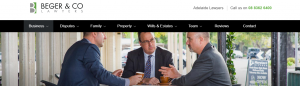 beger and co lawyers in adelaide