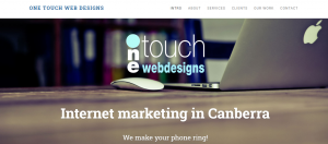 one touch web designs in canberra