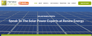 renew solar panels in perth