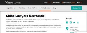 shine lawyers in newcastle