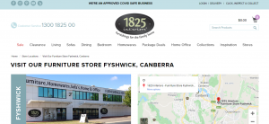 1825 furniture store in canberra