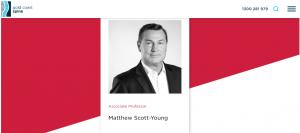 Dr Matthew Scott-Young, neurosurgeon in gold coast