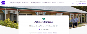 ashmore gardens care home in gold coast