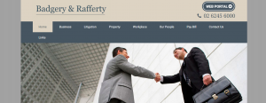 badgery and rafferty lawyers in canberra