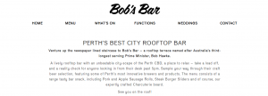 bob's bar in perth