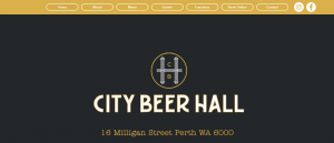 city beer hall in perth