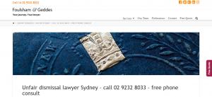 foulsham and geddes unfair dismissal lawyers in sydney