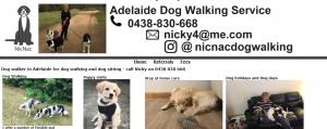 nic nac dog walking in adelaide