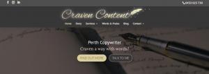 Craven Content copywriting in Perth
