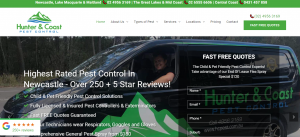 Hunter and Coast Pest Control in Newcastle