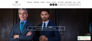 Montiago men's formalwear in Sydney