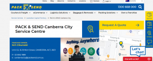 Pack and Send Courier Services in Canberra