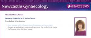 Sharyn Rayner, Gynaecologist in Newcastle