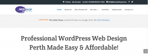 The Web Shop hosting services in Perth