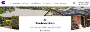 Broadwater Grove Nursing Home in Gold Coast