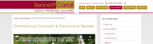 Bennet Carroll Contract Lawyers in Gold Coast
