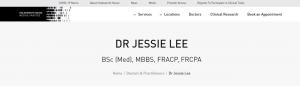 Dr Jessie Lee, Immunologist in Sydney