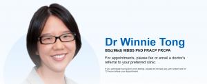 Dr Winnie Tong, Immunologist in Sydney